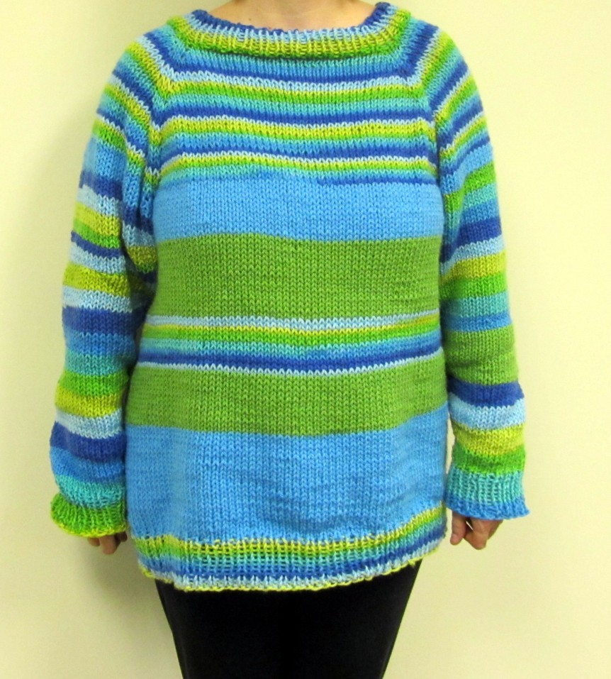 Finished Object! Raglan Sweater
