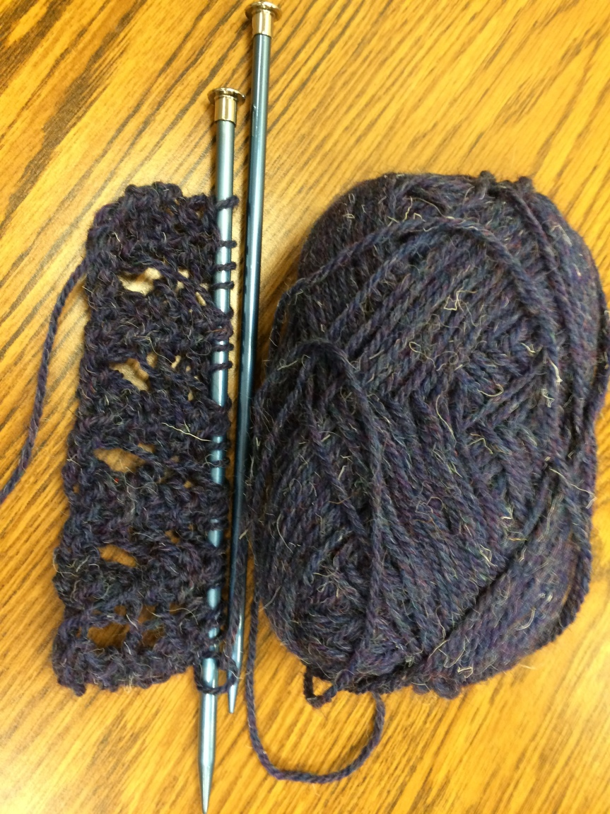 WUL Stash UFO:  One Row Lace Scarf