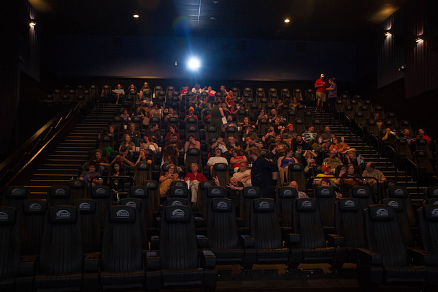 "Crowd for the showing of ""Serenity."""