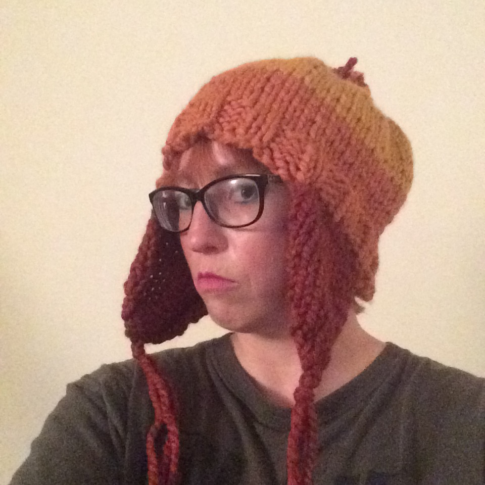 Close up of me in my Jayne Cobb gear, especially of the hat.