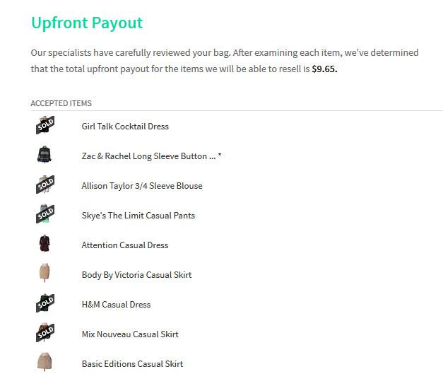 thredUP payout screenshot