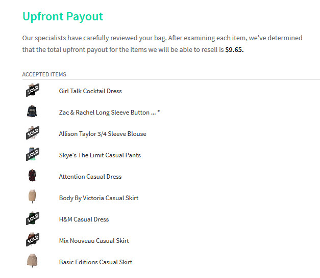thredUP payout screenshot