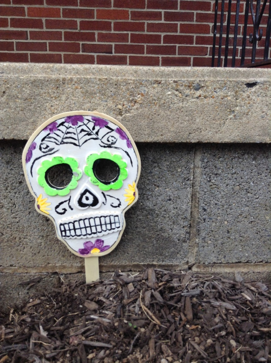 Sugar Skull wooden mask