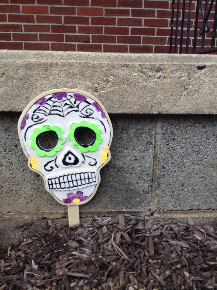 Sugar Skull wooden mask