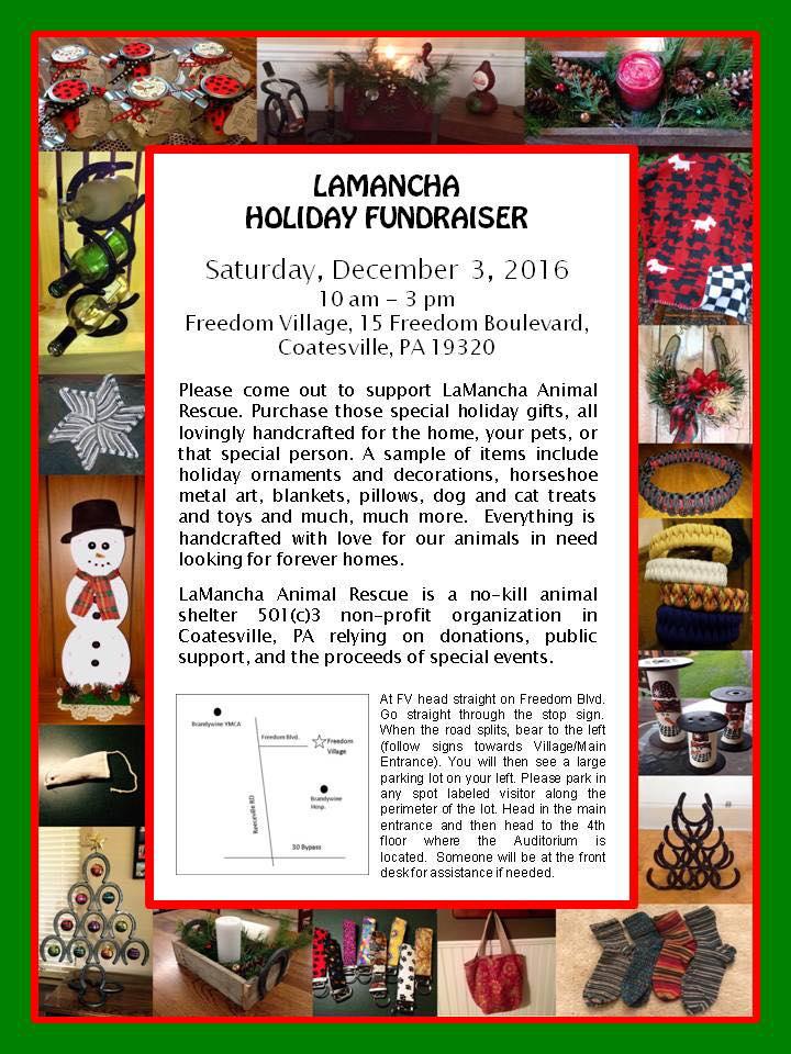 LaMancha Holiday Fundraiser Info