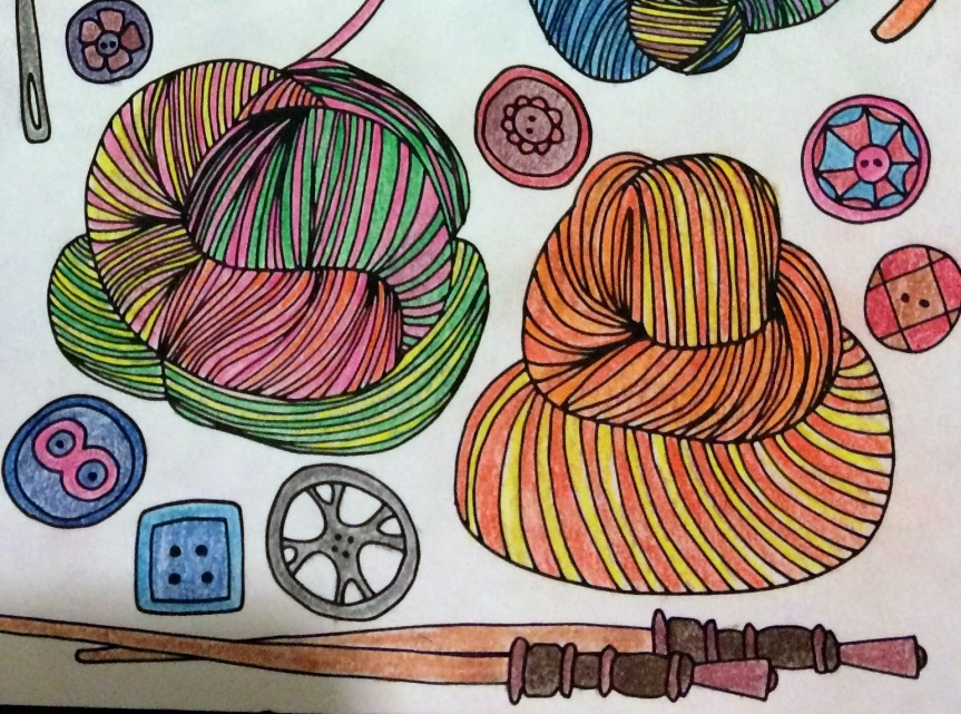 When Coloring Meets Knitting