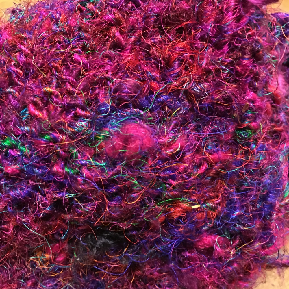 Nepalese Hand spun recycled silk yarn from Darn Good yarn