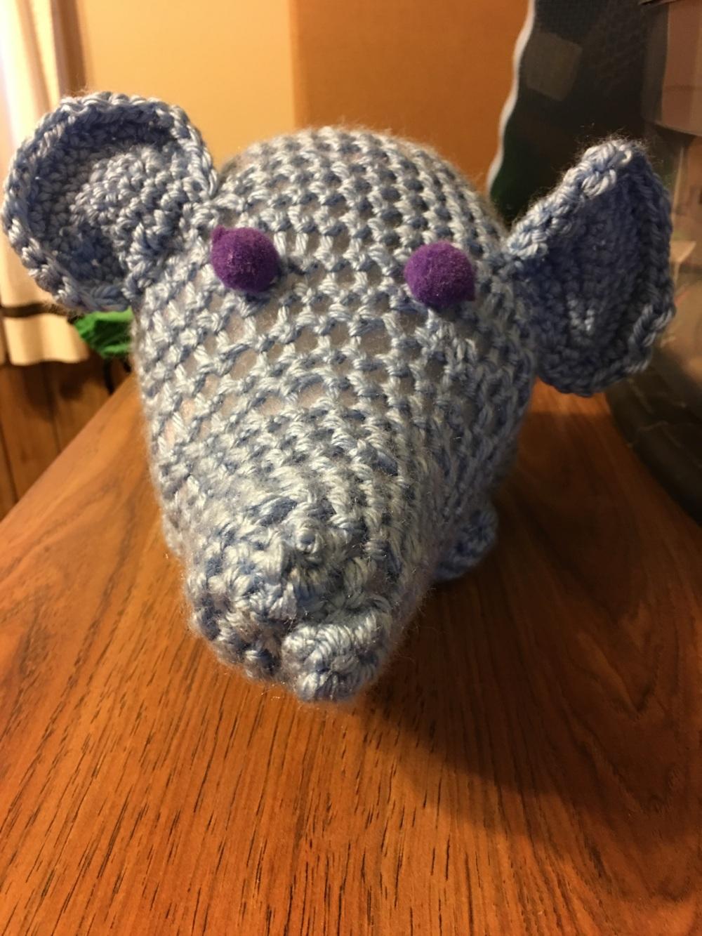 Beady eyed elephant