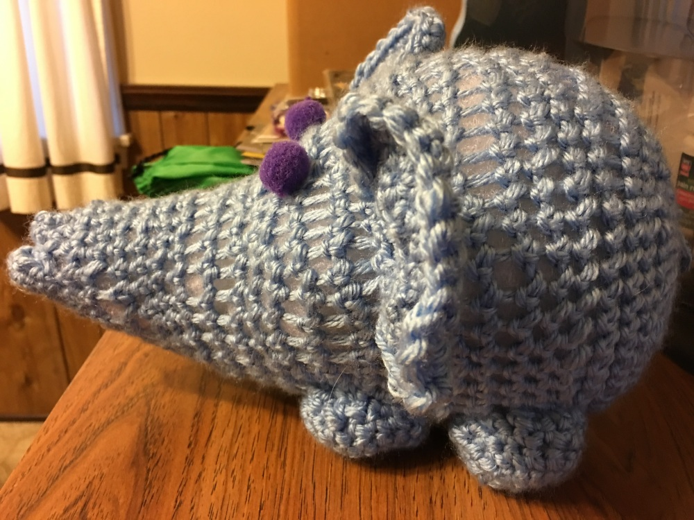 Elephant from the side.