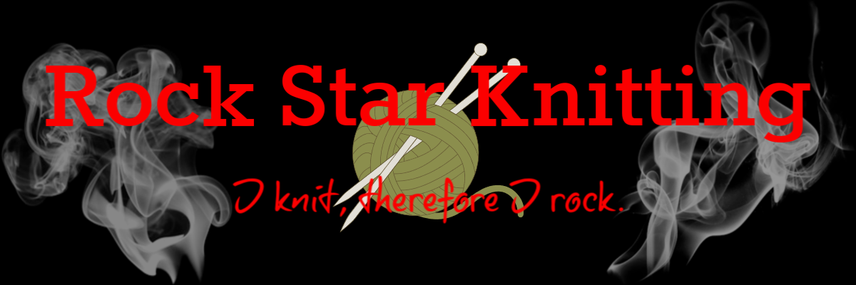 Rock Star Knitting Banner